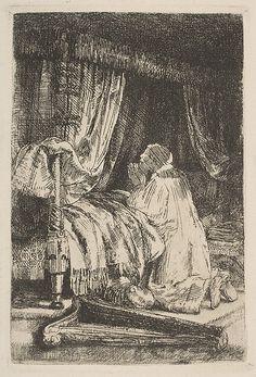 David in Prayer Rembrandt (Rembrandt van Rijn)  (Dutch, Leiden 1606–1669 Amsterdam)