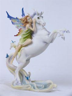 Fairy on Unicorn Statue