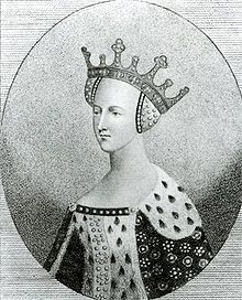 Catherine of Valois, Edmund Tudor's mother, grandmother to Henry VII and great grandmother to Henry VIII. Also mother to Henry VI by her first husband, Henry V.