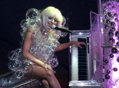 Gaga with fillable ornaments