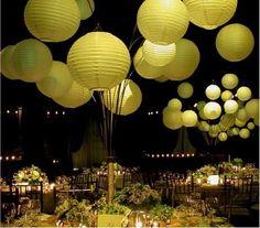 Lanterns and Pom Poms