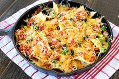 An Italian take on nachos—Pizza Nachos—perfect for football Sunday (Tasty Kitchen)