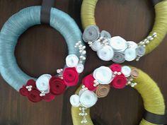 Yarn wreaths!
