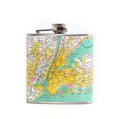 Fab.com | New York Map Flask