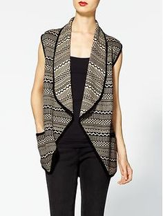 Rhyme & Echo Aztec Print Sweater Vest | Piperlime
