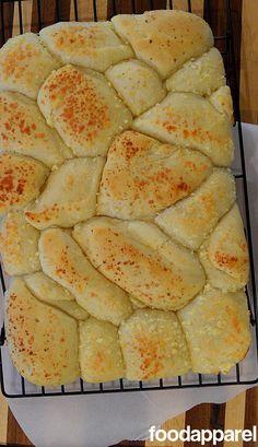 food, pull apart bread, bread rolls