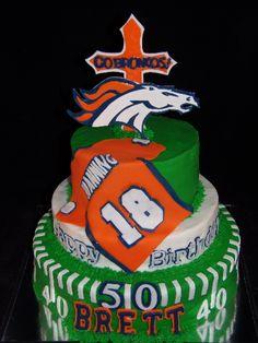 Denver Bronco Lovers Cake-GoochieGourmet.com denver bronco