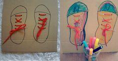 Manualidad para aprender a atarse los cordones - Manualidades fáciles - Manualidades para niños - Charhadas.com