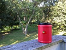 Easy DIY Hummingbird Feeder from a recycled container ... the birds love it!!  Summer Fun | Ziggity Zoom