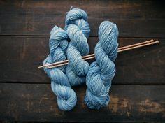 Heartland: August Sky - 100% merino wool naturally dyed by Gaia Yarn