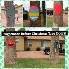 christma tree, tree door, christmas trees