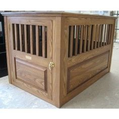 dozer would go crazy over this handmade dog crate!! :)