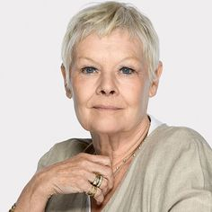 Dame Judi Dench lovely crown when it was blonde and now grey. http://haveheartdaily.net