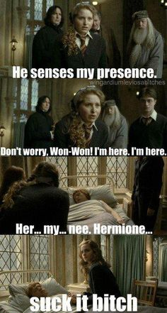 You tell her, Hermione!