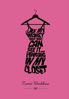 Yes Carrie, we agree! #fashion