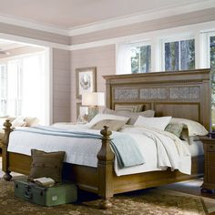Walton Queen Bed in Distressed Oatmeal at Joss & Main