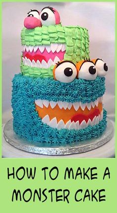 how to make a monster cake- easy decorating techiques