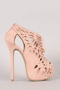 Wild Diva Lounge Jacklyn-09 Perforated Stiletto Platform Heel #urbanog