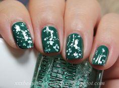 Forever 21 Confetti Nail Color Mint/White