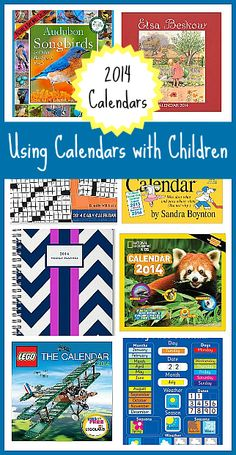 Using Monthly Calendars with Kids~ LOTS of recommendations for 2014 calendars! ~ Buggy and Buddy