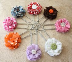 Cute flower paper clips