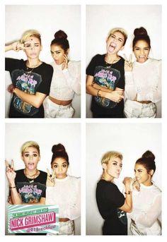 Miley Cyrus.  Vanessa Hudgens.