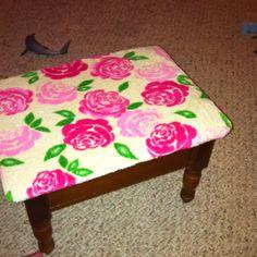 Upcycled stool for owynn