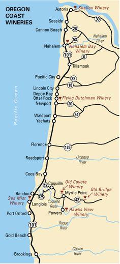 Wine tasting on the Oregon Coast