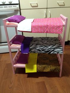 Triple bunk bed for American Girl dolls