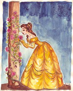Beauty and roses by ~TaijaVigilia on deviantART (Belle)