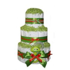 All Diaper Cakes - Organic Green Goodness Diaper Cake, $79.95 (http://alldiapercakes.com/green-goodness-diaper-cake/)