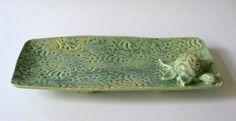 Stoneware Sage Green  Turle Platter by JoyceSloanim on Etsy, $45.00