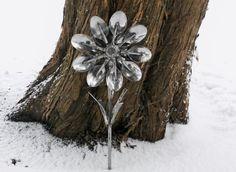 Spoon Flower Metal Sculpture Yard Art Garden by rustaboutcreations, $54.75
