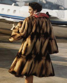 fitch fur coat