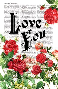 Love Roses collage