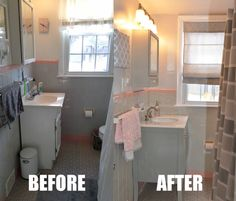 Bathroom Makeovers Grey pink and gray bathrooms venetian mirror in pink bathroom pink and