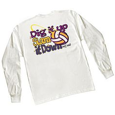 Tandem Dig It Up Slam It Down Long Sleeve Volleyball T-Shirt at Volleyball.Com