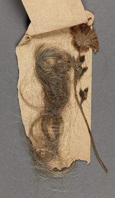Lock of hair belonging to Maurice Prendergast at Williams College Museum of Art.