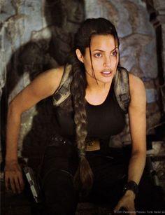 Angelina as Lara Croft