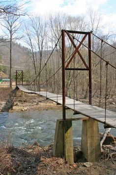 Atwell, West Virginia (suspension footbridge) I need to start walking more so I can hike in July.