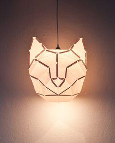 DIY Paper Cat Lampshade