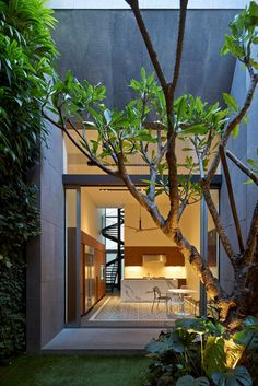 Renovated shophouse into modern family home in Singapore by ONG&ONG