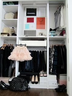one wall of closet