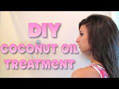DIY Coconut Deep Condition Oil Hair Treatment
