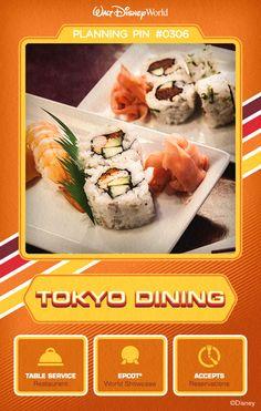 Walt Disney World Planning Pins: Tokyo Dining