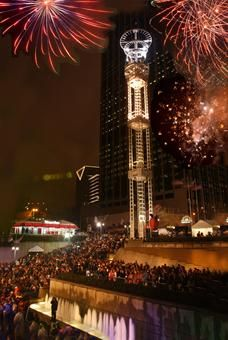 Underground Atlanta's annual Peach Drop is the largest New Year's Eve celebration in the Southeast.