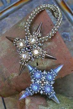 heather-beads: Czech spike beads