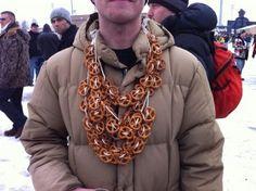 pretzel necklace for oktoberfest