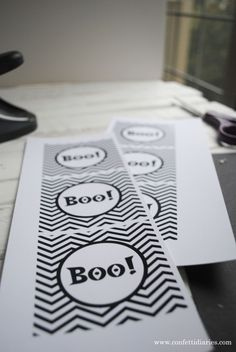 Free printable Boo gift tags.  Perfect to add to all of your holiday treats!