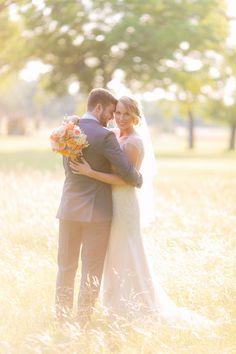 wedding portrait at the magic hour, photo by Al Gawlik http://ruffledblog.com/pecan-springs-ranch-wedding #weddingportrait